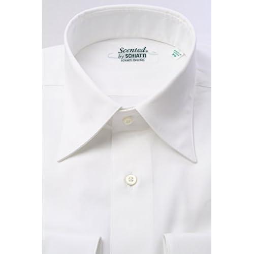 (スキャッティ) Scented 白無地 80番手 双糸 ピンポイントオックス レギュラーカラー ドレスシャツ rg2461f-4185