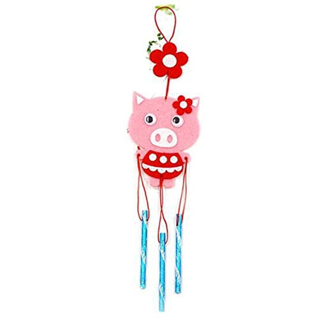 ラメ寄付テーマFengshangshanghang 風チャイム、クリエイティブ手作りDIY生産資材パッケージ風チャイム、パープル、全身について35CM,家の装飾 (Color : Pink)