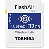 東芝 Flash Air W-04 第4世代 SDHC 32GB R:90MB/s W:70MB/s THN-NW04W0320C6 Toshiba [並行輸入品]