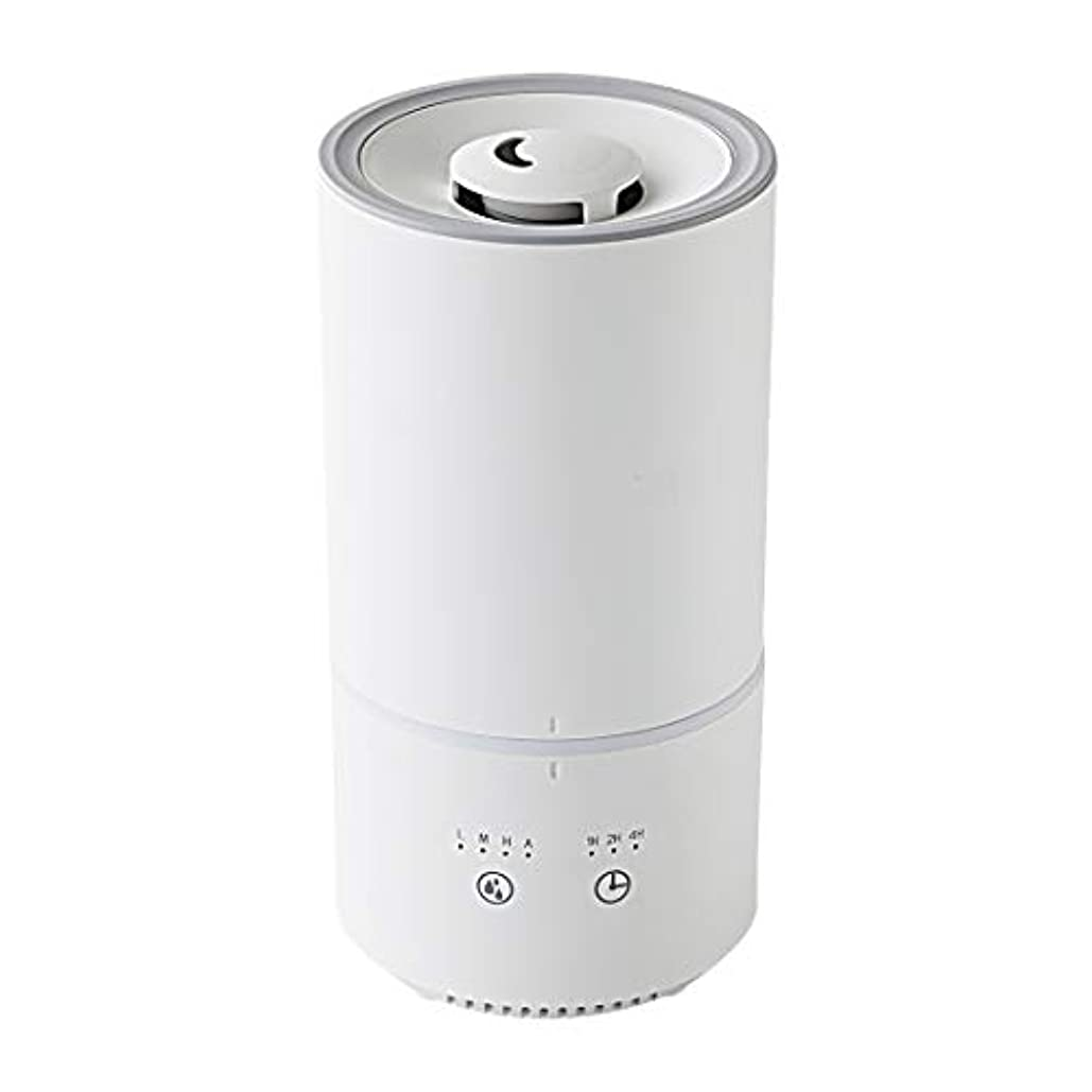 キシマ(Kishima) 卓上 加湿器 上から給水 1L 200ml/h アロマ対応 超音波 LEDライト ミスト調整 スリムタイプ ホワイト