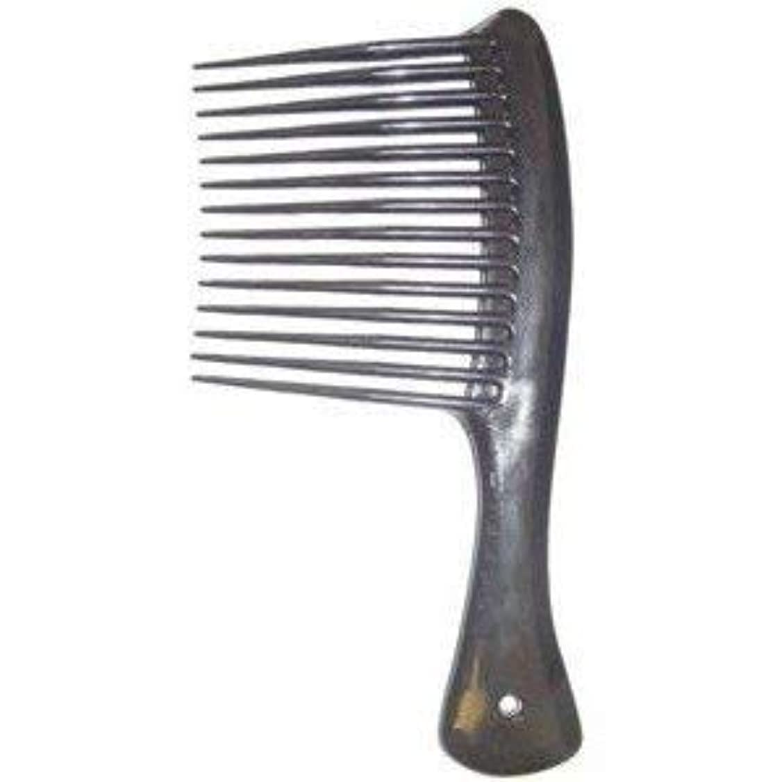 集中的な負担スラックLarge Tooth Shampoo Detangling Comb Rack Hair Comb (Black) [並行輸入品]