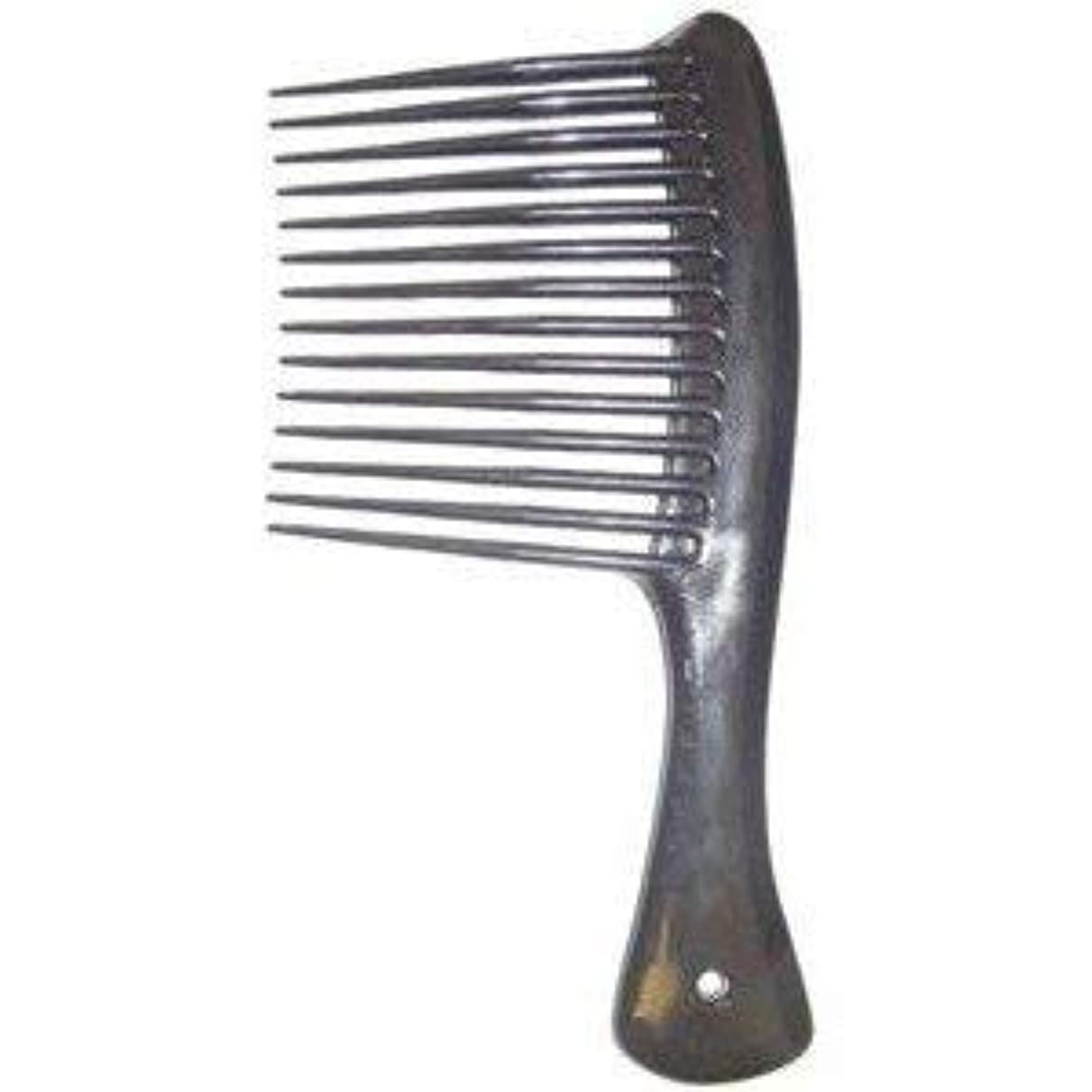 Large Tooth Shampoo Detangling Comb Rack Hair Comb (Black) [並行輸入品]