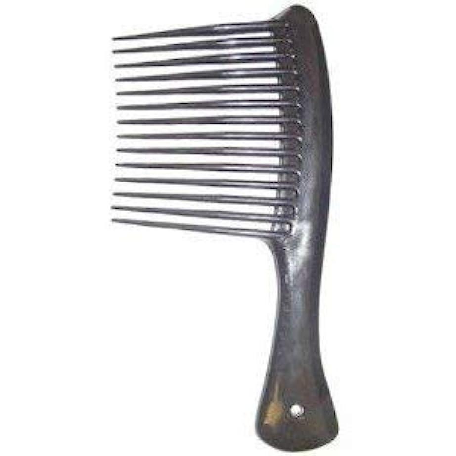 小麦粉類推好奇心盛Large Tooth Shampoo Detangling Comb Rack Hair Comb (Black) [並行輸入品]