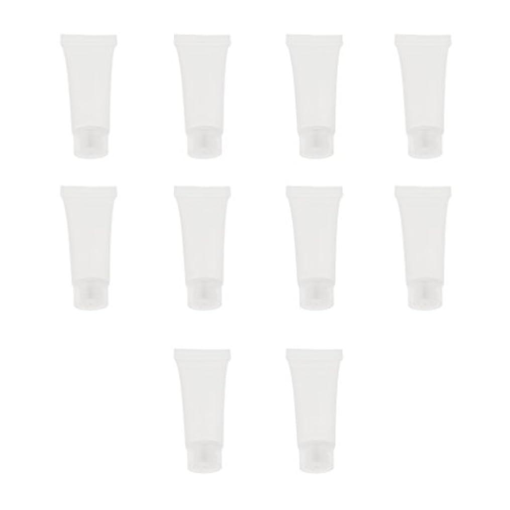 バンガロー測定凝縮する10個 空チューブ クリームチューブ 透明 プラスチック製 コスメ 詰替え メイクアップ ローション コンテナ 収納ボトル 2サイズ選べる - 10g