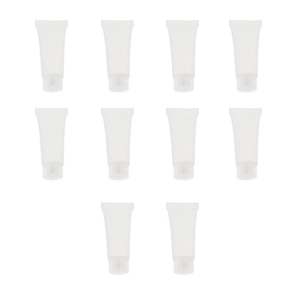 媒染剤なめらかなピア10個 空チューブ クリームチューブ 透明 プラスチック製 コスメ 詰替え メイクアップ ローション コンテナ 収納ボトル 2サイズ選べる - 10g