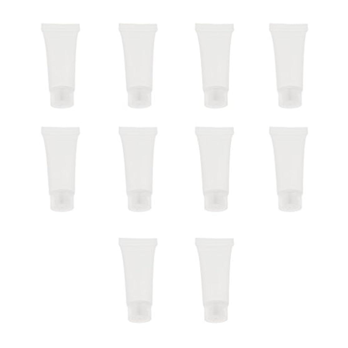 凍結として匿名10個 空チューブ クリームチューブ 透明 プラスチック製 コスメ 詰替え メイクアップ ローション コンテナ 収納ボトル 2サイズ選べる - 10g