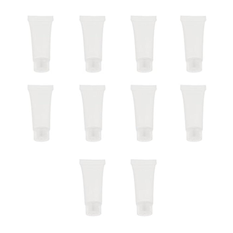 いまアフリカ人ベーリング海峡10個 空チューブ クリームチューブ 透明 プラスチック製 コスメ 詰替え メイクアップ ローション コンテナ 収納ボトル 2サイズ選べる - 10g