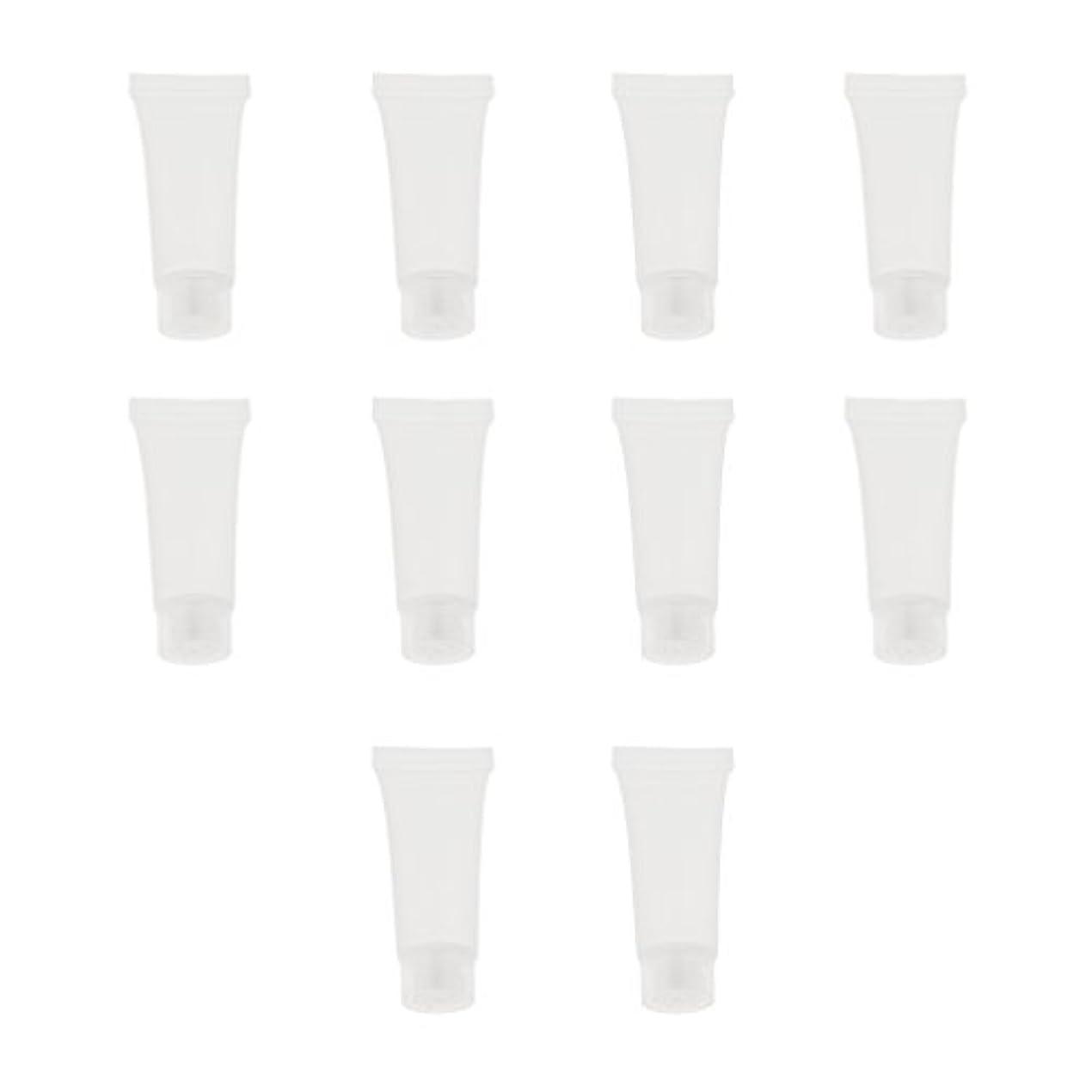 無謀過半数薬10個 空チューブ クリームチューブ 透明 プラスチック製 コスメ 詰替え メイクアップ ローション コンテナ 収納ボトル 2サイズ選べる - 10g