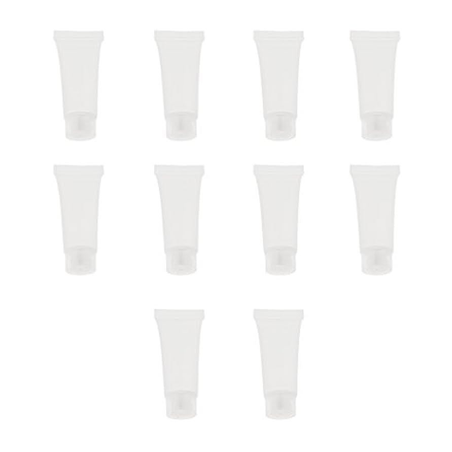 姓トレイルめる10個 空チューブ クリームチューブ 透明 プラスチック製 コスメ 詰替え メイクアップ ローション コンテナ 収納ボトル 2サイズ選べる - 10g