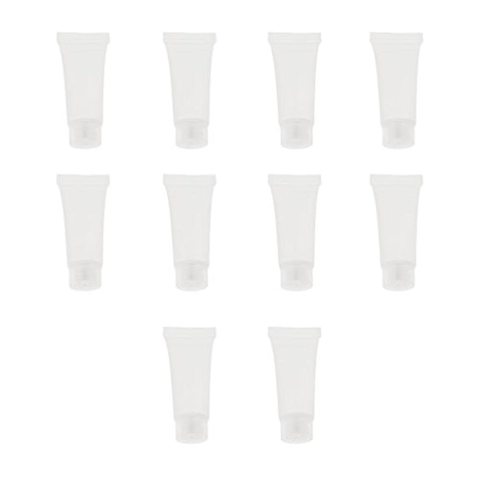 サンダー消費反動10個 空チューブ クリームチューブ 透明 プラスチック製 コスメ 詰替え メイクアップ ローション コンテナ 収納ボトル 2サイズ選べる - 10g