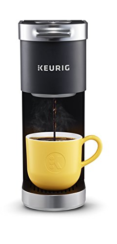 Keurig K-Mini Plus Single Serve K-Cup Pod Coffee Maker, with 6 to 12oz Brew Size, Stores up to 9 K-Cup Pods, Travel Mug Friendly, Matte Black 141[並行輸入]