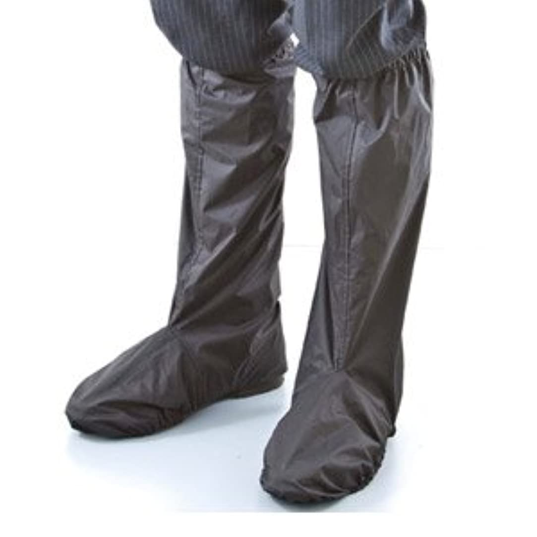休眠怠感フラグラントシューズレインカバー FIN-307 ブラック 突然の大雨、足もとのズブ濡れ防止に!