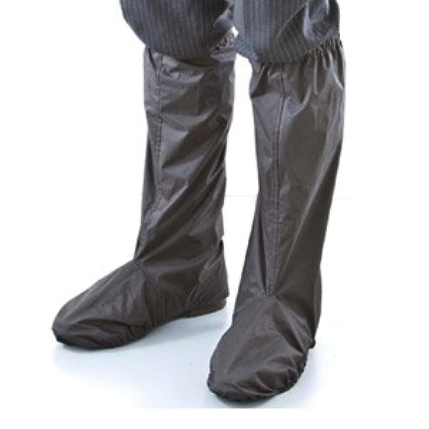 名声香ばしいなるシューズレインカバー FIN-307 ブラック 突然の大雨、足もとのズブ濡れ防止に!