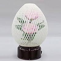盆提灯 モダン提灯 繭玉 白 (大) 1台 LED仕様 ルミナス 組立不要 高さ約26cm 日本製 行灯 盆提灯 八女提灯
