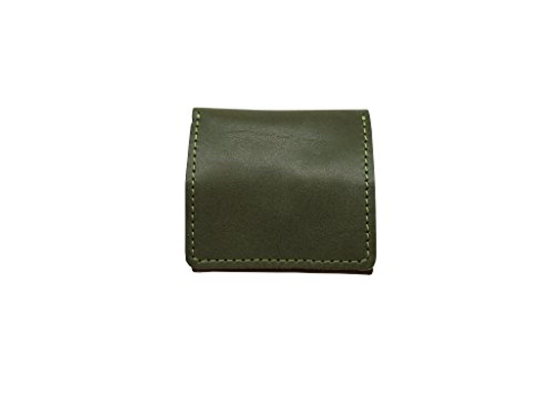 ボックスコインケース 栃木レザー 革 コンパクト ボタン 日本製 財布 小銭入れ