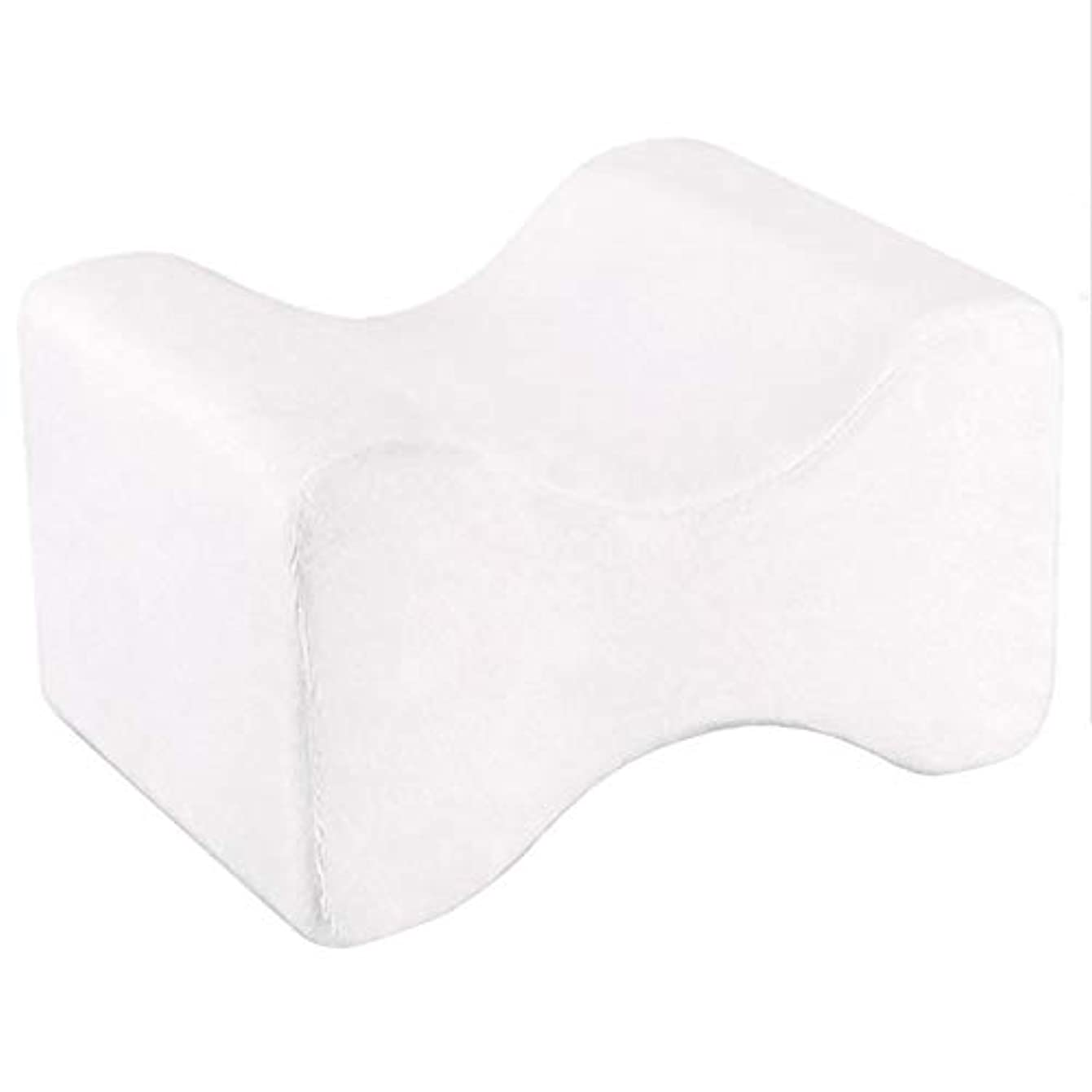 閃光天の興奮ソフト枕膝枕クリップ足低反発ウェッジ遅いリバウンドメモリコットンクランプマッサージ枕男性女性 - ホワイト