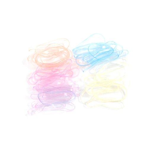 uxcell ヘアゴム リングゴム ゴムバンド シリコンバンド ゴムアクセサリー 輪ゴム 女性用 選べる5色 40本