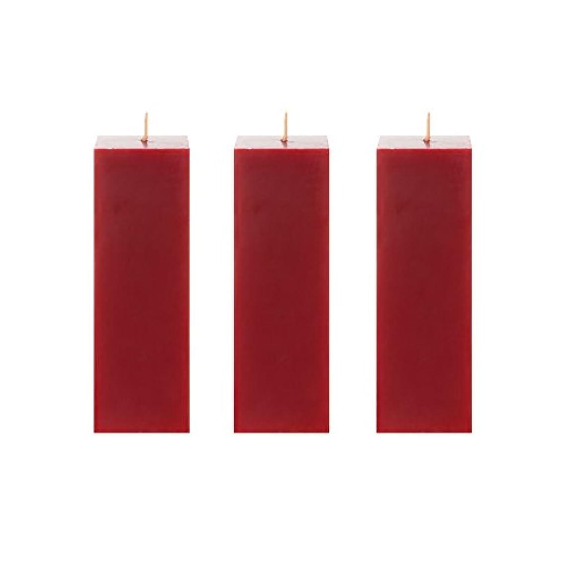 ツーリストエントリ権利を与えるMegaキャンドル3個無香Square Pillar Candle |手Pouredプレミアムワックスキャンドル2