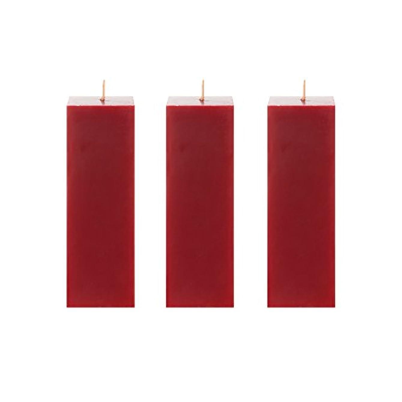 取り戻す小麦粉抑止するMegaキャンドル3個無香Square Pillar Candle |手Pouredプレミアムワックスキャンドル2