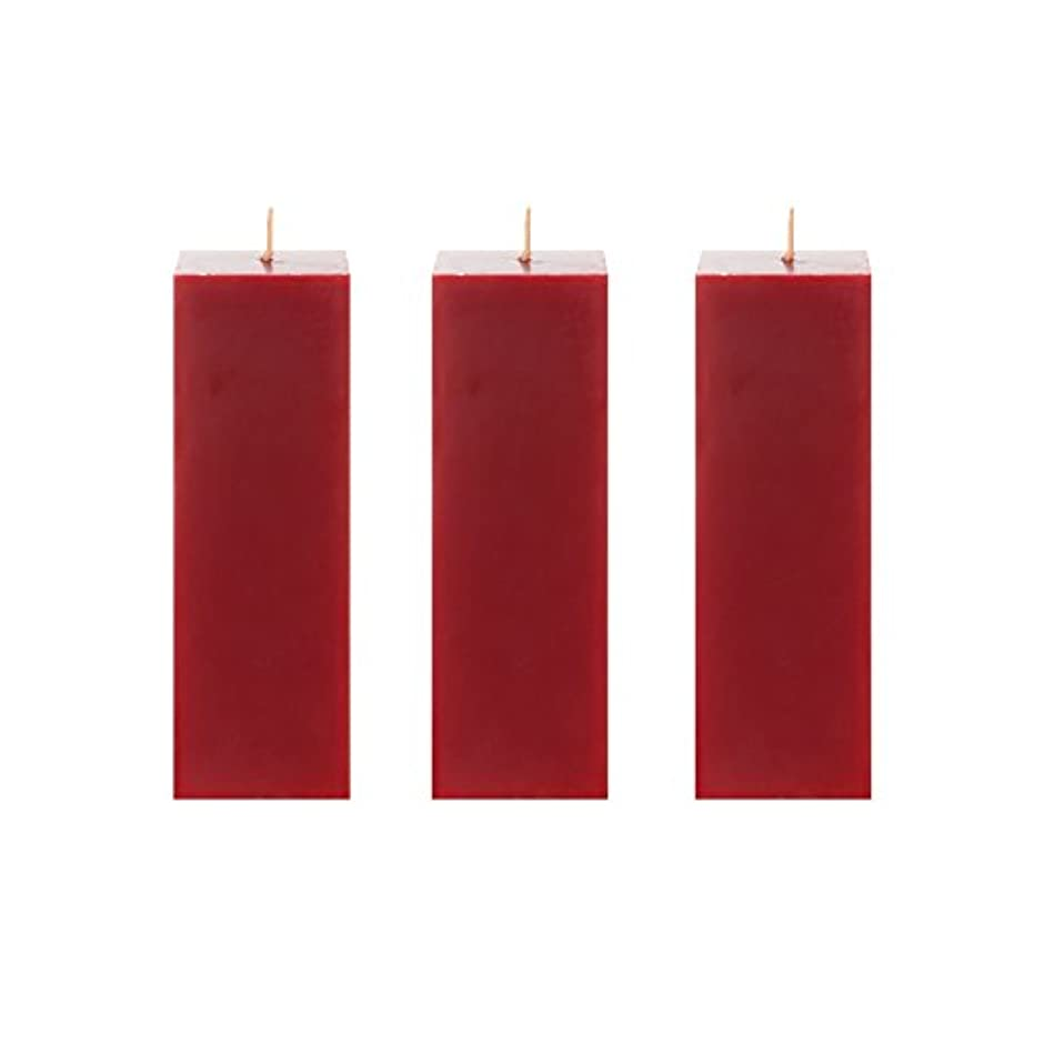 渇き鈍い農夫Megaキャンドル3個無香Square Pillar Candle  手Pouredプレミアムワックスキャンドル2