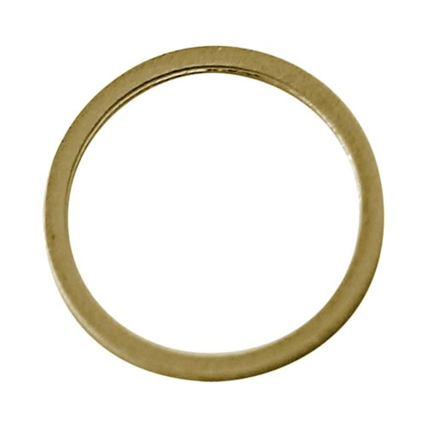 部分的おもちゃアルミニウムプリティーネイル ネイルアートパーツ フレームリンク゛M ゴールド 5個