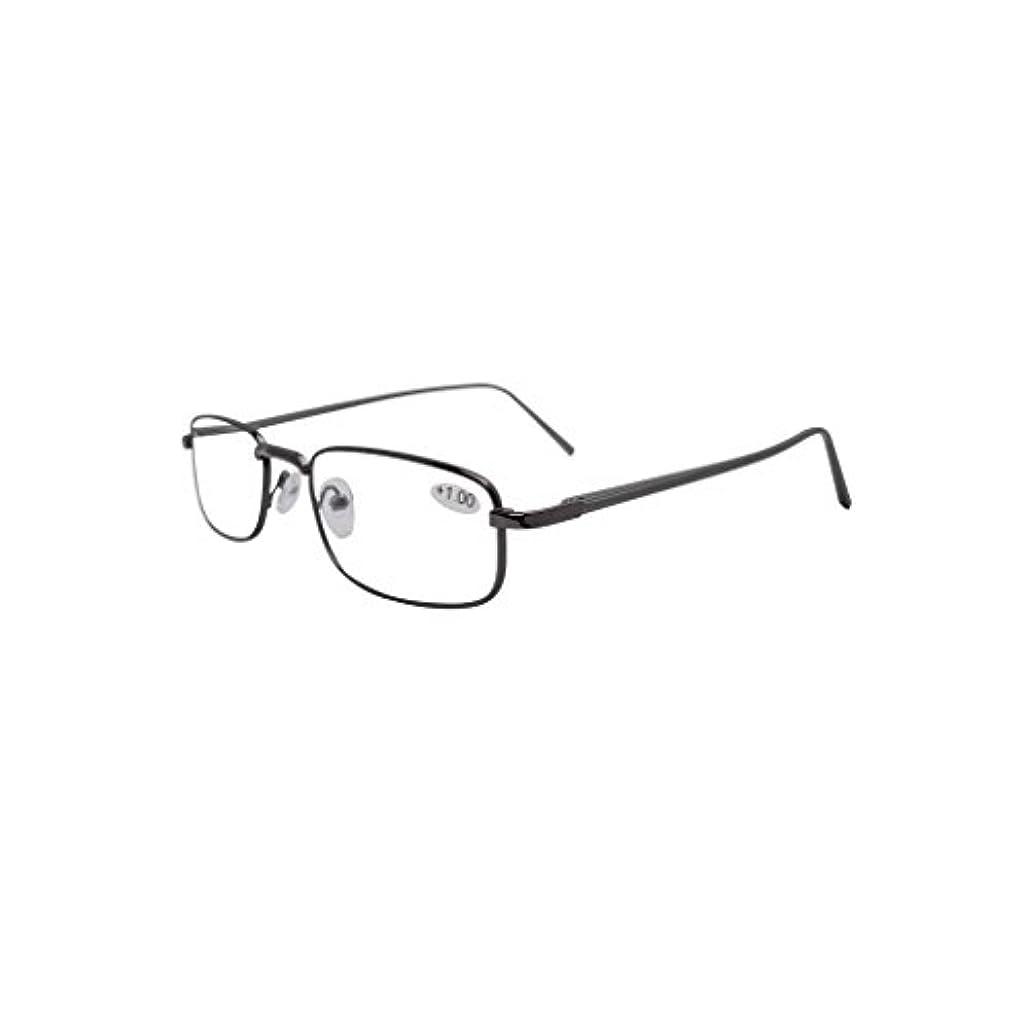アイキーパー(Eyekepper) バネ蝶番 アルミ製 テンプル メンズ レディース 男 女 兼用 リーディンググラス シニアグラス 老眼鏡 ケース付き コード付き +3.00 グレーテンプル