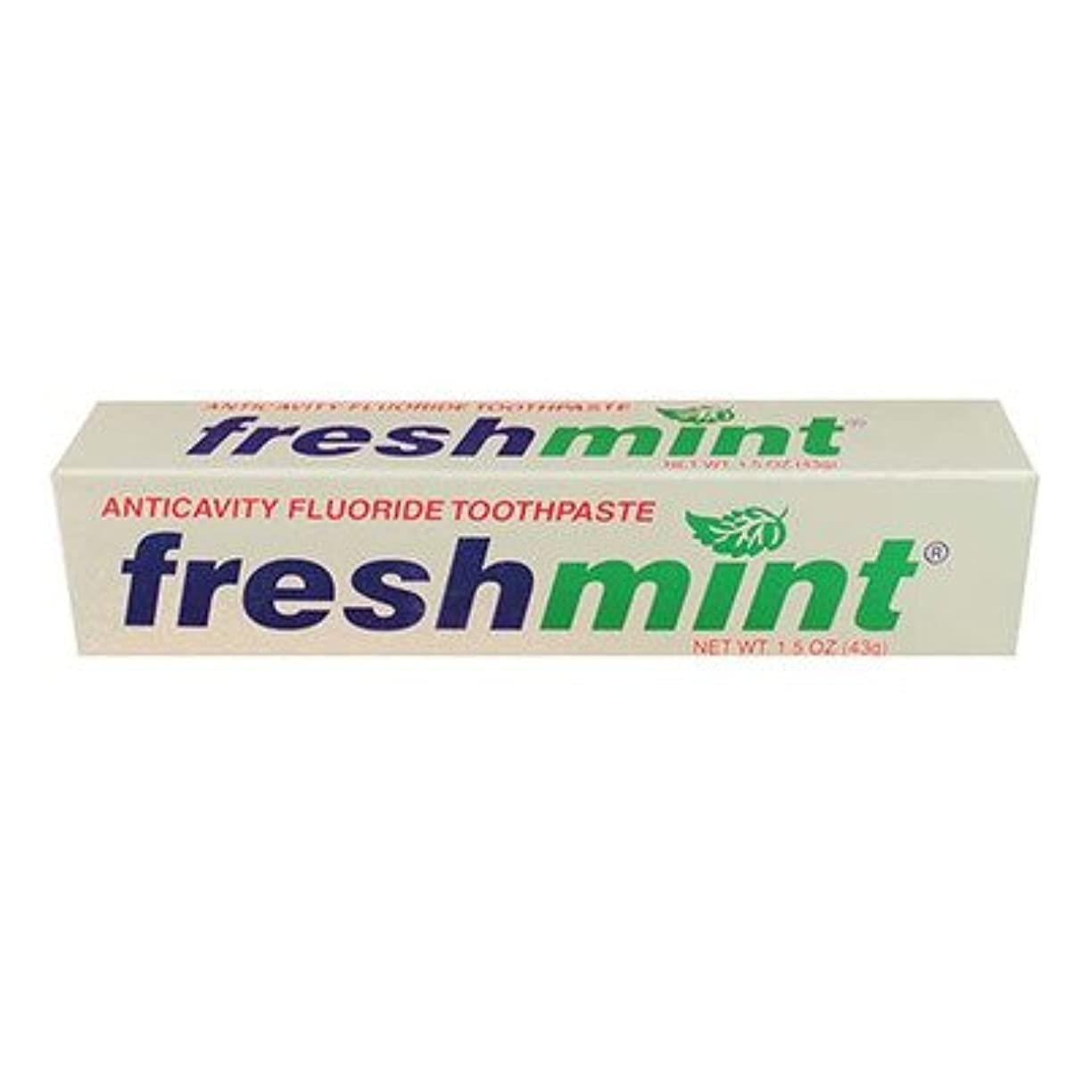 不愉快発症許可Freshmint Fluoride Toothpaste, 1.5 oz (Case of 144) by Freshmint