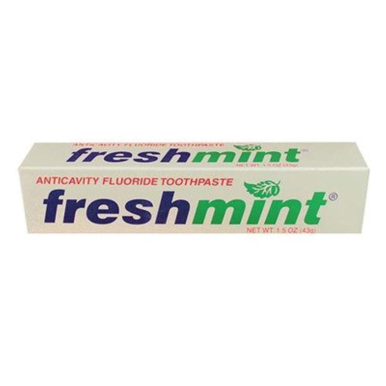 政治的観察するよく話されるFreshmint Fluoride Toothpaste, 1.5 oz (Case of 144) by Freshmint