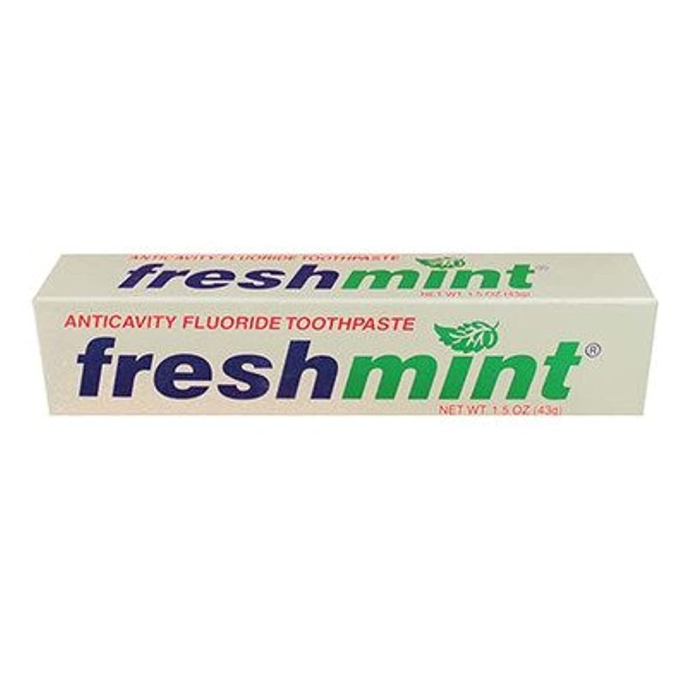 突然の溶接メトリックFreshmint Fluoride Toothpaste, 1.5 oz (Case of 144) by Freshmint