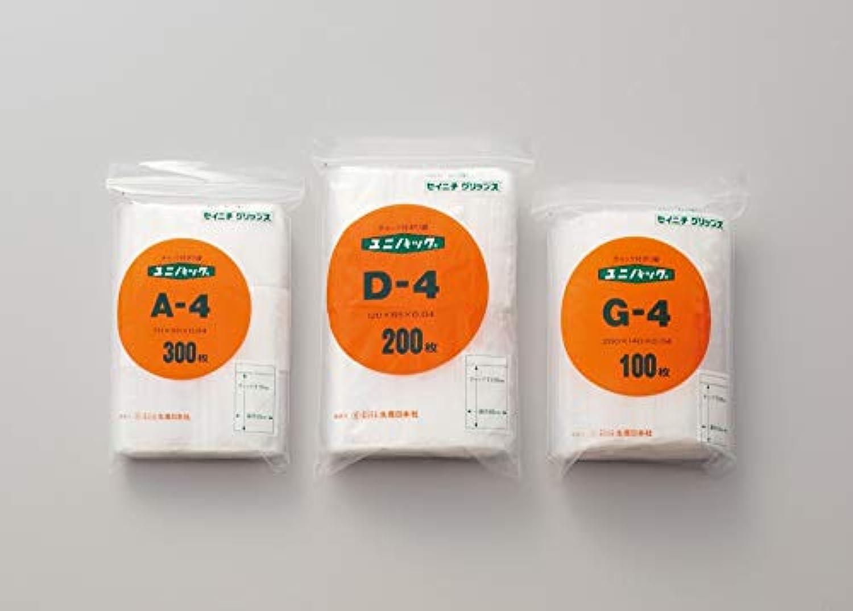 インフレーションものアルコールユニパック H-4 100枚入 単位:100枚入/袋