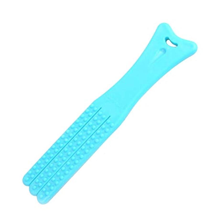 グリーンバック論争的刈るPerfeclan ボディマッサージ ハンマーノック ツボ押しハンマー 健康マッサージ 筋肉 ストレス解消 全2色 - 青