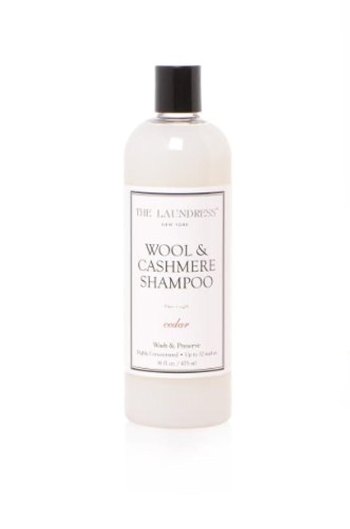 消す伝染性のレイアTHE LAUNDRESS(ザ?ランドレス)  ウールカシミアシャンプー cedarの香り475ml
