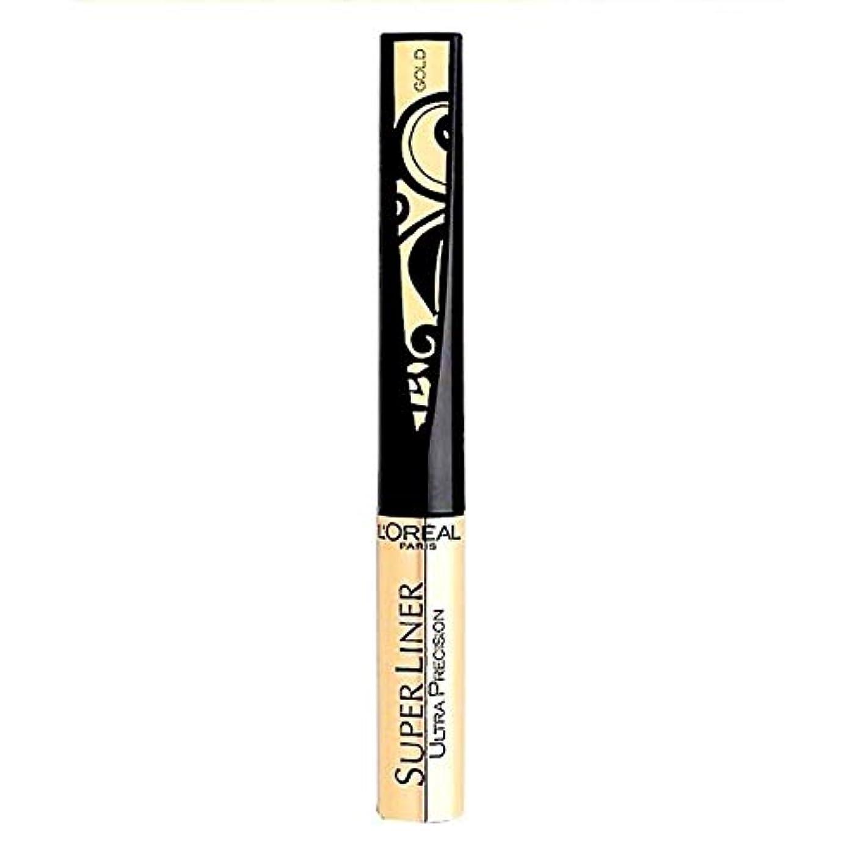 不和罪人固めるL'Oréal Paris Super Liner Ultra Precision Farbe: Gold/Schwarz Inhalt: 1,5ml Liquid Eyeliner für einen unvergesslich...