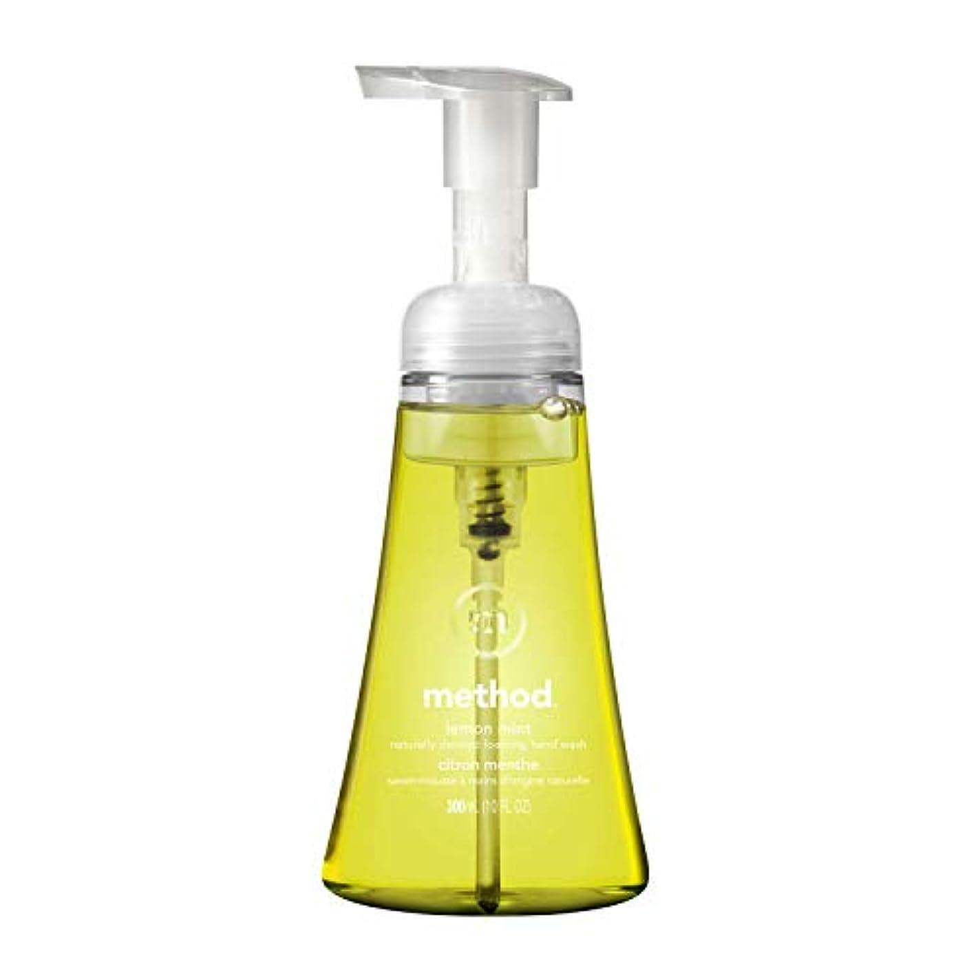 簡潔なミケランジェロ汚すメソッド ハンドソープ 泡タイプ レモンミント 本体300ml