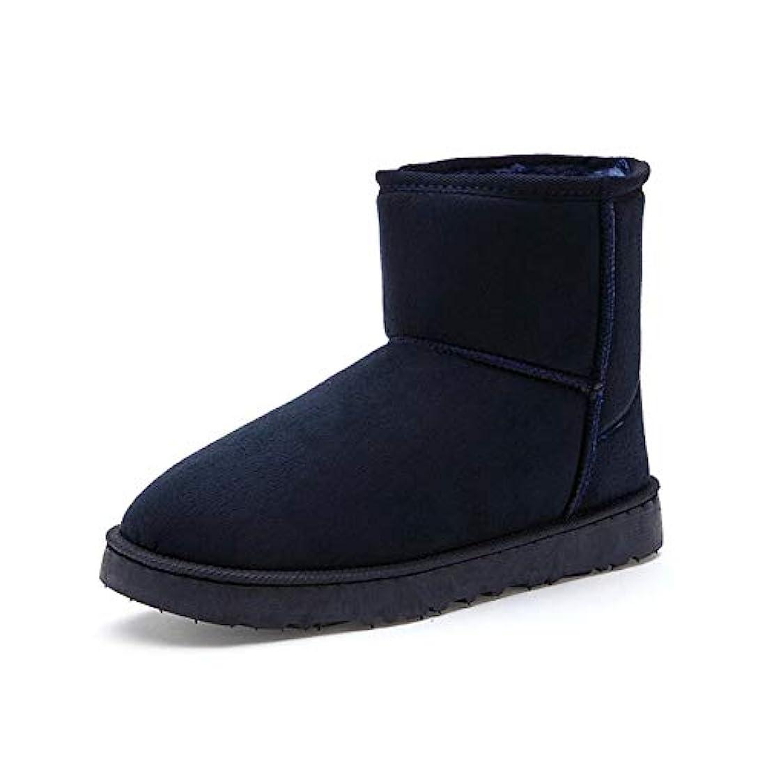 最後の口ひげキリマンジャロ女性のブーツ、冬新しい韓国の男性と女性のカップルのスノーブーツショートブーツプラスベルベットの学生野生の暖かい綿の靴 (色 : C, サイズ : 45)