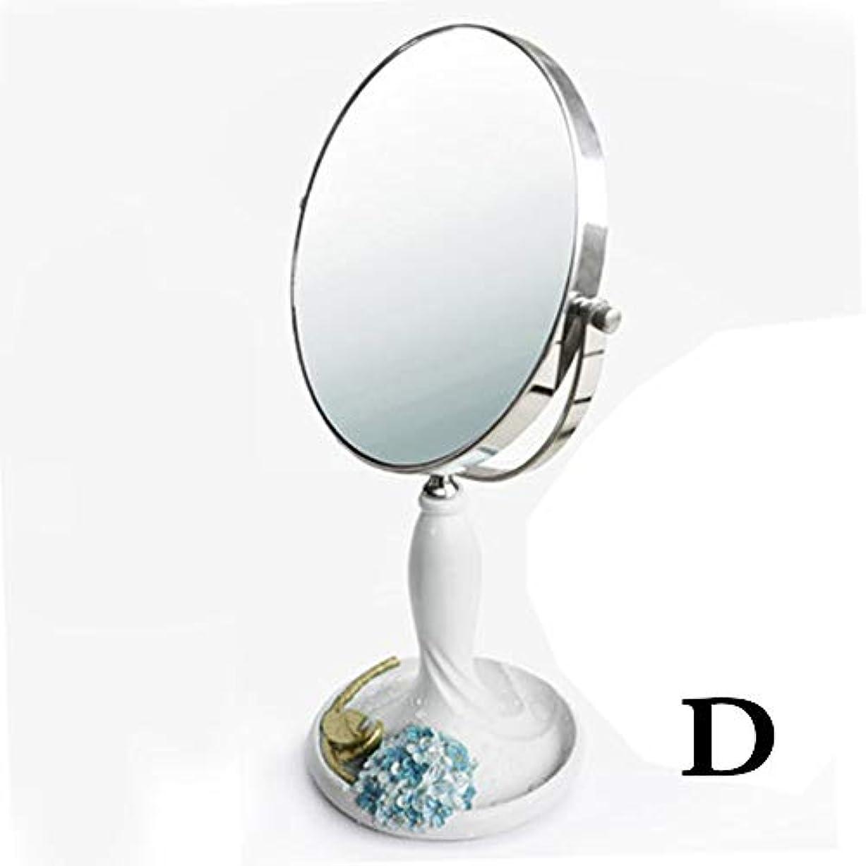 照明付き化粧鏡 6-8インチメイクアップミラー台座テーブルミラー、浴室用寝室、シェービングミラー化粧用化粧台化粧鏡両面クロム自立化粧鏡3倍ズーム 化粧鏡 (Color : White, Size : 8 Inch)