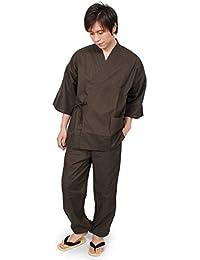 [オオキニ] 作務衣 綿 メンズ 軽やかウルトラライト 綿作務衣 さむえ