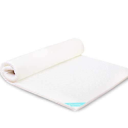 Domic マットレス 高反発 シングル 体圧分散 快眠 腰楽 底付なし 120x200x4cm 2つサイズ コンパクトに収納可能 通気性抜群 洗える 敷布団 ベッドマット