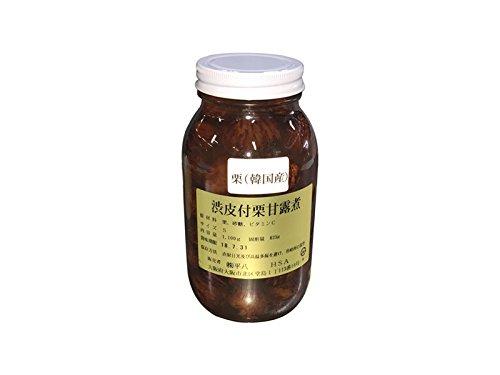 渋皮付栗甘露煮 固形量625g 栗(韓国産)