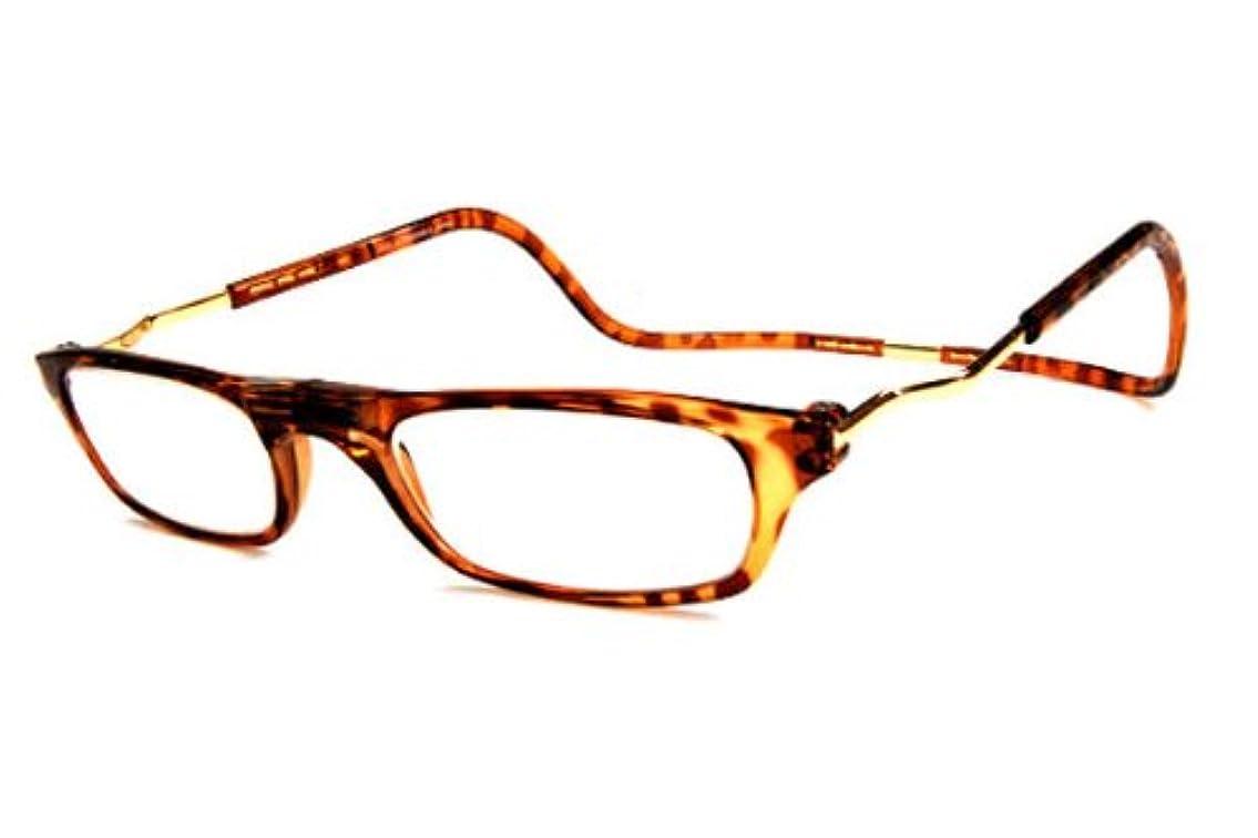 クリックリーダー Lサイズ 全3色 火野正平でお馴染み老眼鏡〔無色タイプのブルーカットレンズも選べる〕(ライトデミ,アクリル+2.50)