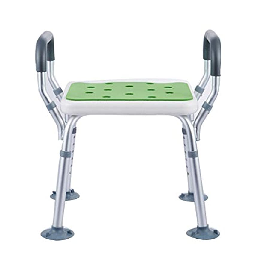 ベット要求ヘビシャワーベンチ シャワーベンチ バス アル コンフォート アルミ合金 軽量コンパクト 取付簡単 丈夫 入浴補助用具 高齢者身体障害者妊婦に適しています、肘掛付 耐荷重約100kg