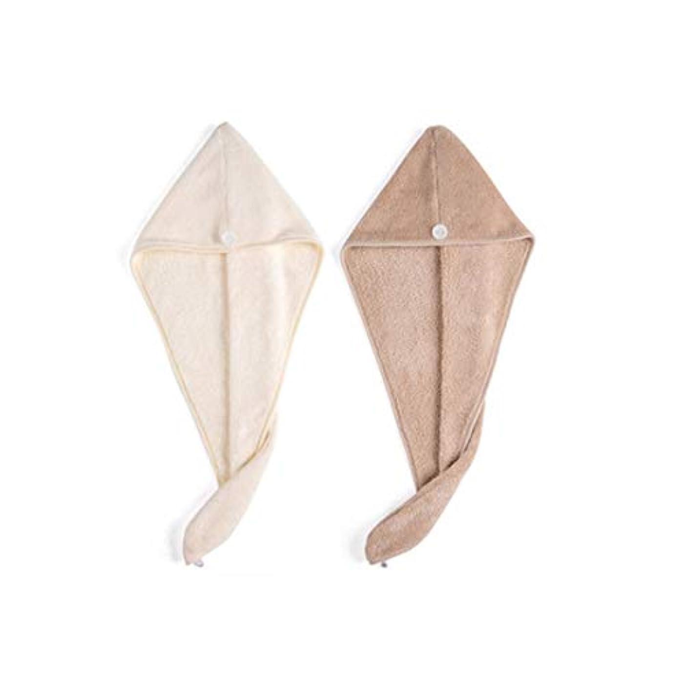 リボンリップ回転するQXFD ファストバッグスカーフかわいいアーティファクト太いシャワーキャップつのロード拭いて乾いた髪の帽子シャンプー女性高吸水性速乾性タオル (Color : A)