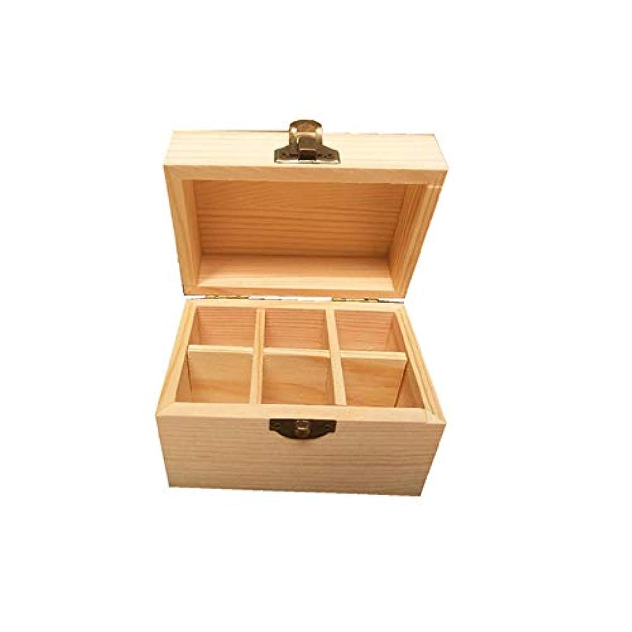 侵略パール品種アロマセラピー収納ボックス ウッド精油収納ボックスの6種類は、油があなたの最高のエッセンシャルオイルを披露完璧なケースです エッセンシャルオイル収納ボックス (色 : Natural, サイズ : 12X8X8.5CM)