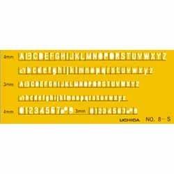 ウチダ テンプレート No.8-S 英字数字定規 1-843-1018