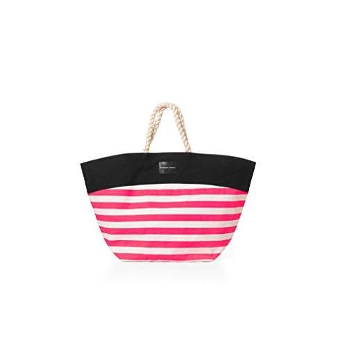 即日発送【 ビーチ トート 】VICTORIA'S SECRET ヴィクトリアシークレット/ビクトリアシークレット VS BEACH TOTE BAG 【 099-Pink Stripe 】