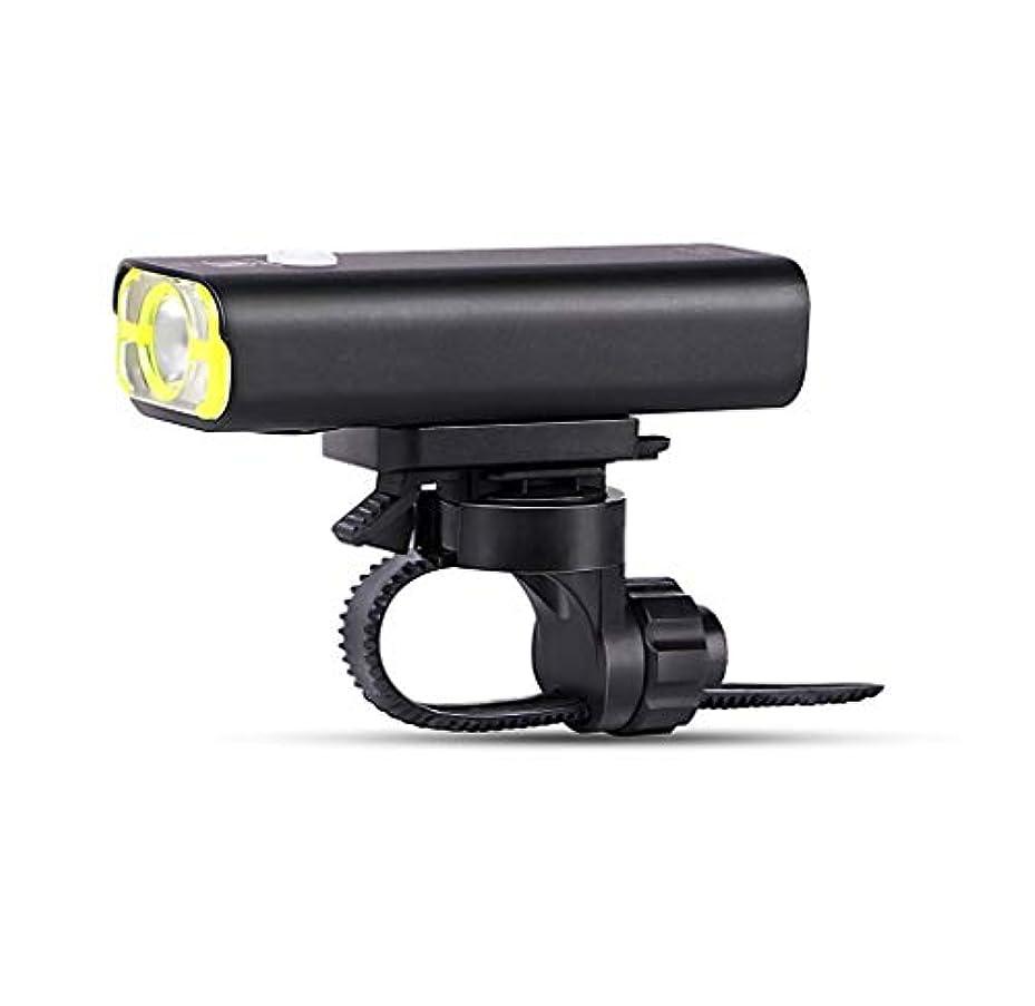 アイドル明確な枯れるJ-RH 充電式LED自転車ライトセット、フロントライトテールライト、IPX4防水自転車ライト、4モード(2本のUSBケーブル) (Color : Black)