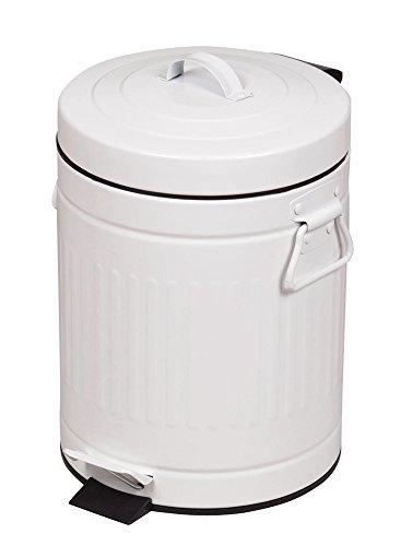 パール金属 ゴミ箱 ふた付き ペダル ペール 5L クラウス ホワイト HB-2217