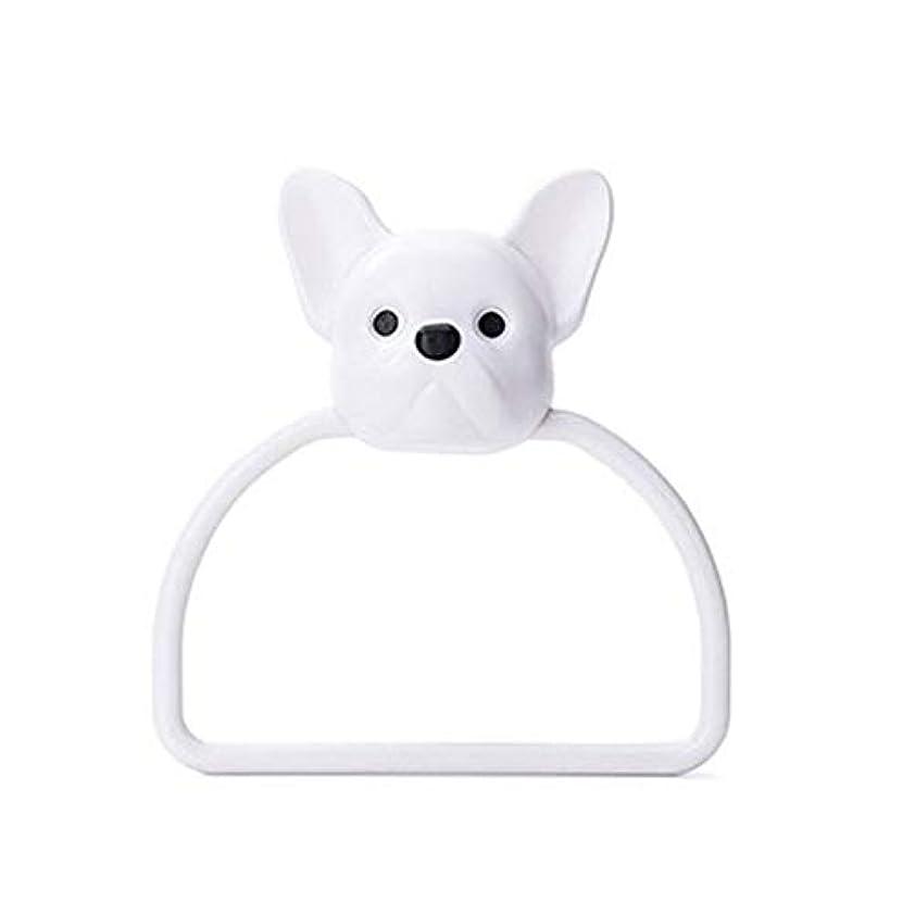 これまで証明衛星BGF 浴室のタオルリング/漫画の動物タオルは壁掛け浴室トイレの子ハンギングタオルホルダーハンガーホームキッチンタオルリングラックラックラック (色 : Puppy)