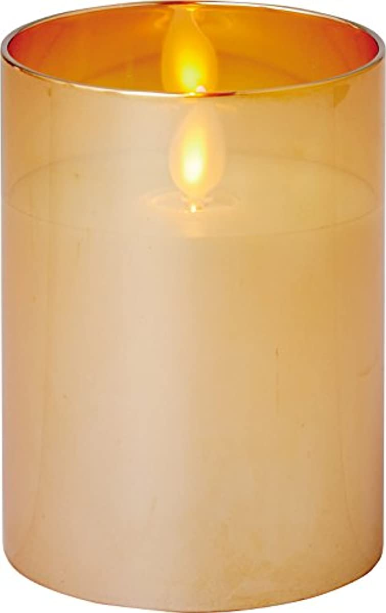 フック閉じ込める時illumine イルミネシャイングラス入りLEDキャンドルS ゴールド