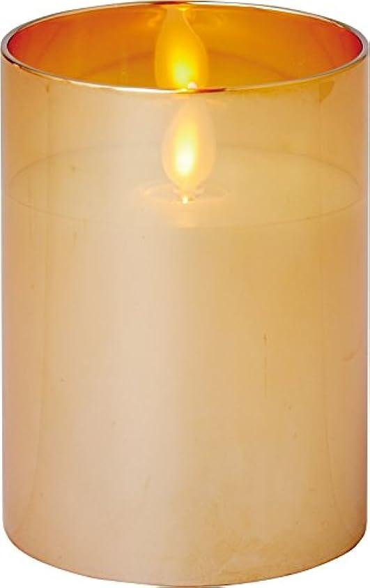 つぼみ時計嵐のillumine イルミネシャイングラス入りLEDキャンドルS ゴールド